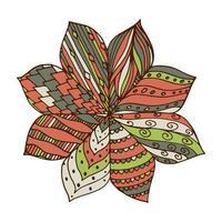 zentangle mandala för målarbok. vektor