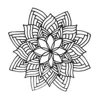 Zentangle Mandala für Malbuch
