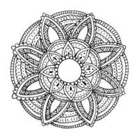 Blumenmandala für Karten, Drucke und Malbücher vektor