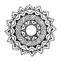 Zentangle Mandala für Malbuch vektor