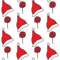 god jul hattar och godis mönster
