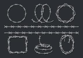 rakblad tråd ikoner uppsättning vektor