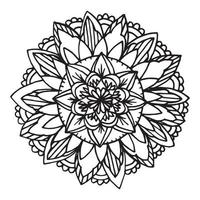 Zentangle Mandala für Malbuch. vektor