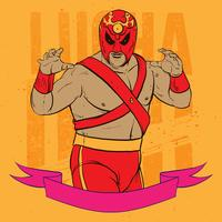 Luchador-Haltungs-Illustration