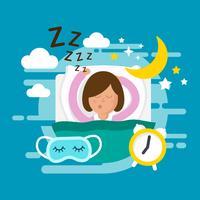 Kostenlose Schlafenszeit Vektor-Illustration vektor