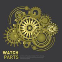 Uhr Teile Illustration vektor