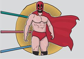 Cartoon mexikanischer Wrestler