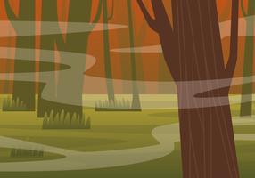 Gespenstische Bayou-Illustration
