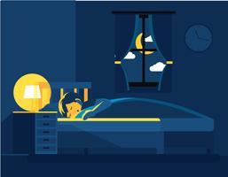 Schlafenszeit-Illustrations-Vektor vektor