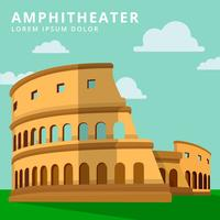 Vektor-flacher Art-Amphitheatre