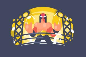 Mexikanische Wrestler-Illustration
