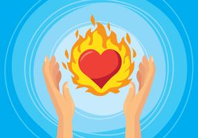 Herz brennende Illustration