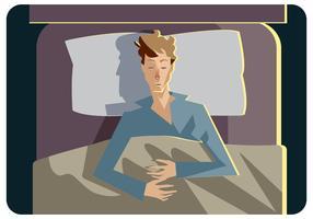 Schlafender Illustrations-Vektor vektor