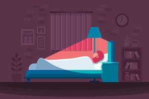 sovande sovande vektor
