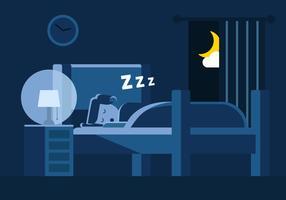 Kostenlose Schlafenszeit Vektor-Illustration