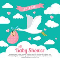 babyshower vektor illustration
