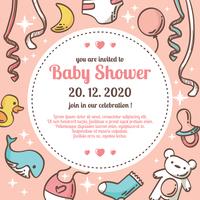 Babyshower-Vektor-Illustration vektor