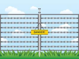 Razor Wire Gefahr Vektor