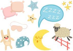 Schlafzeit Element Vektoren