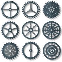 Vektor verschiedene flache Uhrenteile