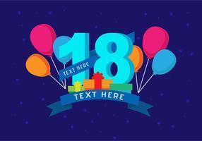 18. Geburtstag Hintergrund vektor