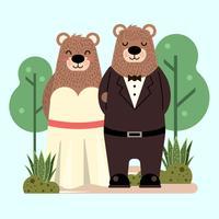 Bären in der Liebe vektor