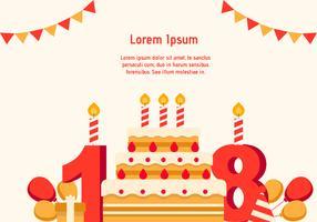 18. Geburtstag Hintergrund