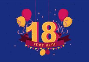 Geburtstag Hintergrund vektor