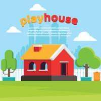 Spielhaus-Yard-Vektor