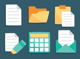 Spreadsheet-Dokumentelementvektor