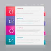 Vektor-Infographik-Index-Papier mit weißer Hintergrund-Schablone. vektor
