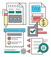 Lineare Geschäfts- und Finanzvektorelemente