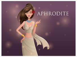 Freier schöner Aphrodite-Vektor