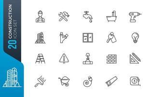 minimal konstruktion ikonuppsättning
