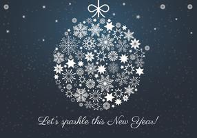 Frohes Neues Jahr Hintergrundelemente vektor