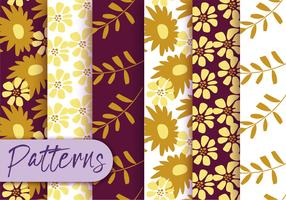 Herbst-Flora-Muster-Set