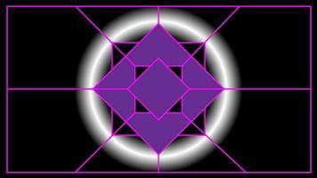 lila Fünfeck des abstrakten Hintergrunds mit weißem Licht Neon vektor