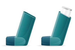 medizinisches Inhalationsset für Patienten mit Asthma vektor