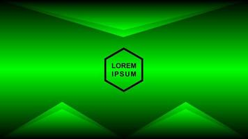 abstrakter Hintergrund von dunkelgrün bunt mit Fünfecklinien vektor