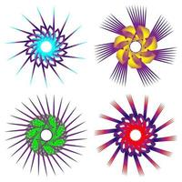 abstrakter Satz fraktale kreisförmige Spirale bunt