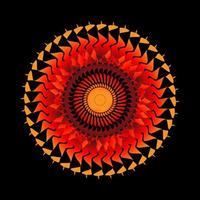 abstrakter kreisförmiger Spiralspirograph
