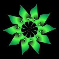 grüne florale fraktale Verzierung