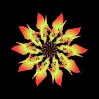 fraktal geformte orange Blume