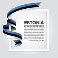estland abstrakt våg flagga band vektor