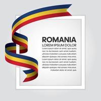 Rumänien abstrakt våg flagga band vektor