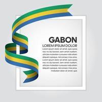 gabon abstraktes Wellenflaggenband vektor