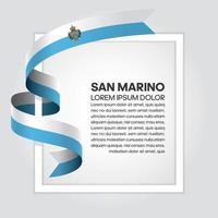 San Marino abstrakt våg flagga band vektor