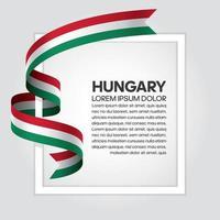 Ungern abstrakt våg flagga band vektor