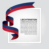 Liechtenstein abstrakt våg flagga band vektor