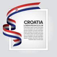 Kroatien abstrakt våg flagga band vektor